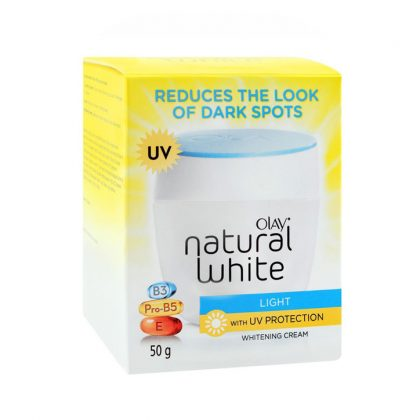 Olay Natural White Rich Light UV Protection Whitening Cream, 50g